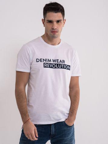 Bijela denim wear majica