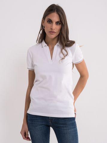 Bijela majica sa kragnom