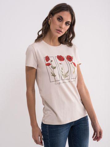Ženska majica sa cvetnim uzorkom