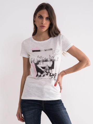 Bijela majica sa crnom slikom