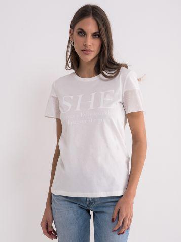 Pamučna bijela majica