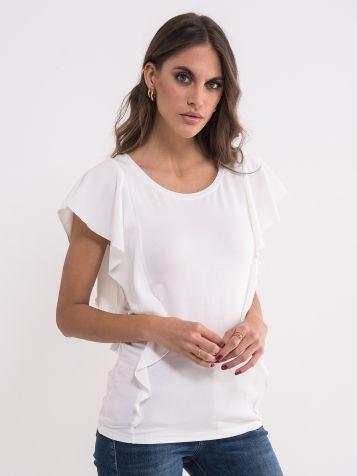 Bijela majica sa zanimljivim rukavima