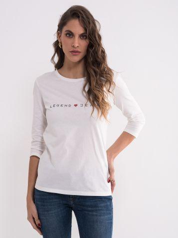 Bijela Legend jeans majica